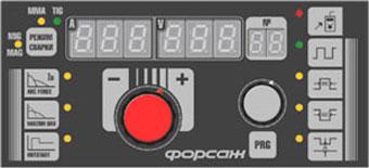 Расширенная панель сварочного полуавтомата ФОРСАЖ-502